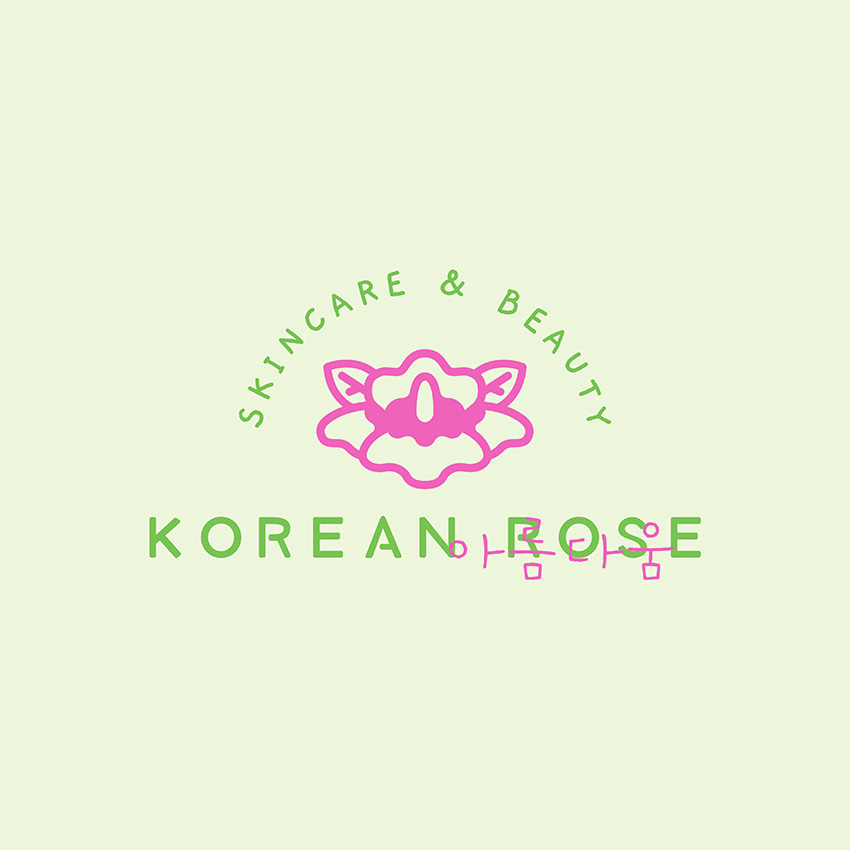 Korean Skincare Brand Logo Template