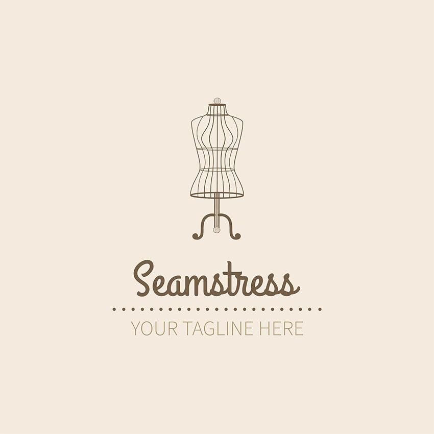 Seamstress Logo Design Template