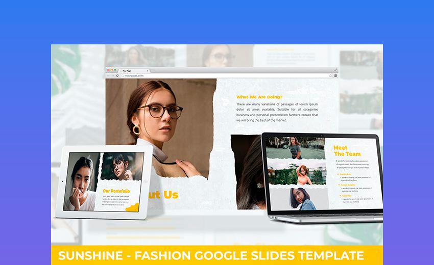 Sunshine - Fashion Google Slides Template