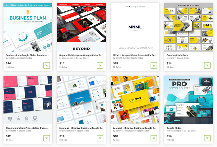 GraphicRiver is another great source of Google presentation backgrounds.