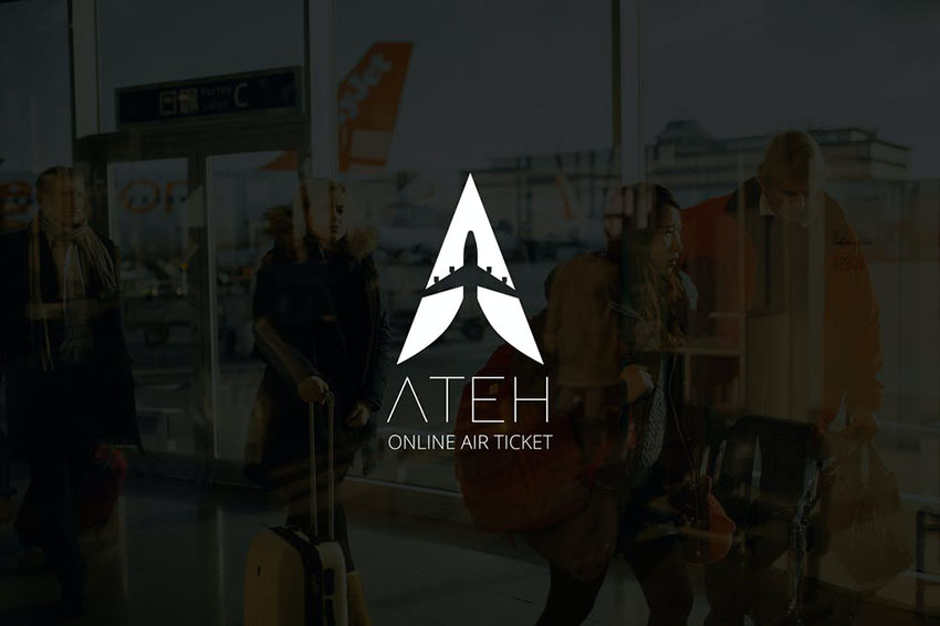 Image of Ateh Negative Space Plane Logo