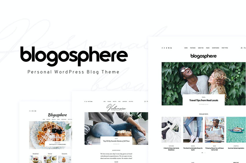 Image of Blogosphere   Multipurpose Blogging Theme
