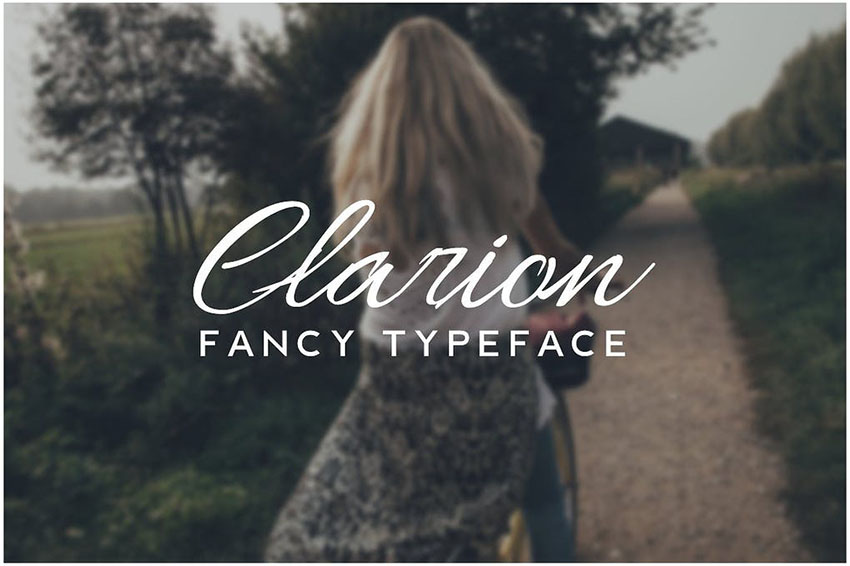 Image of CLARION   Fancy Handwriting Decorative Typeface