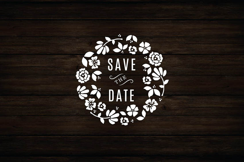Image of Floral Wreath Save The Date