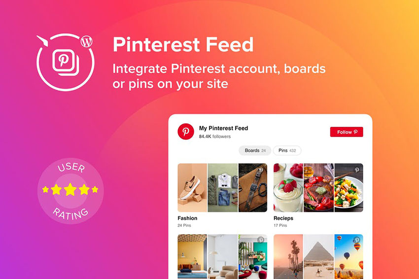 Image of WordPress Pinterest Feed Plugin