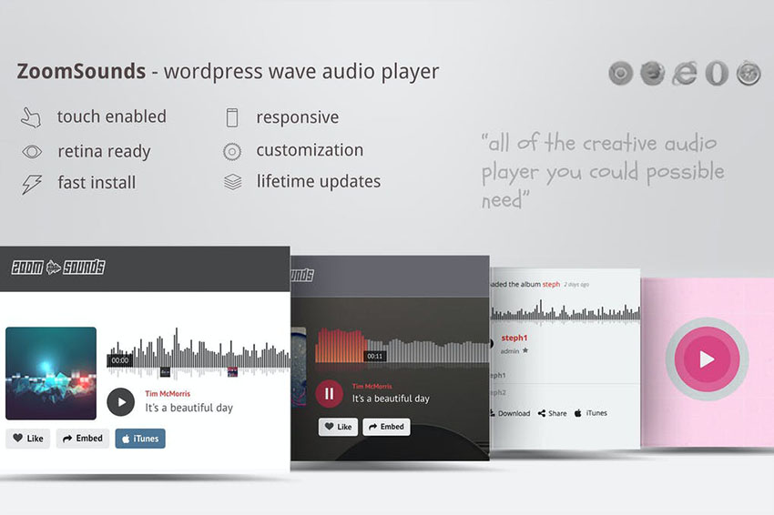Image of ZoomSounds   WordPress Wave Audio Player