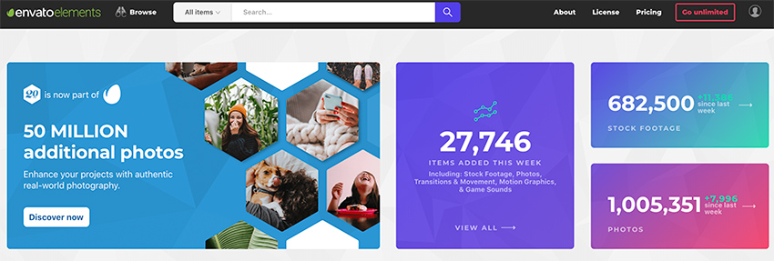 Envato Elements gives you unlimited access to millions of digital creative assets