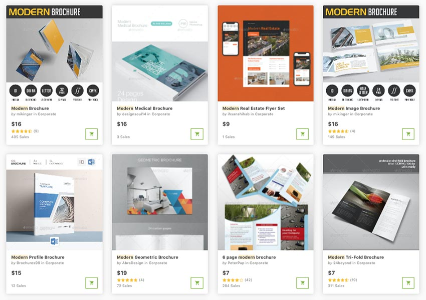 modern corporate brochure one at a time in GraphicRiver