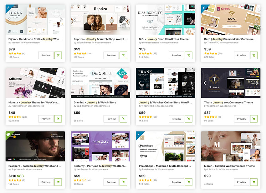 Jewelry WordPress Themes for WooCommerce available on Themeforest now.