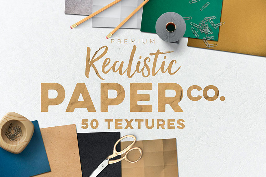 This paper texture Photoshop pack will save you some time and give you professional results.