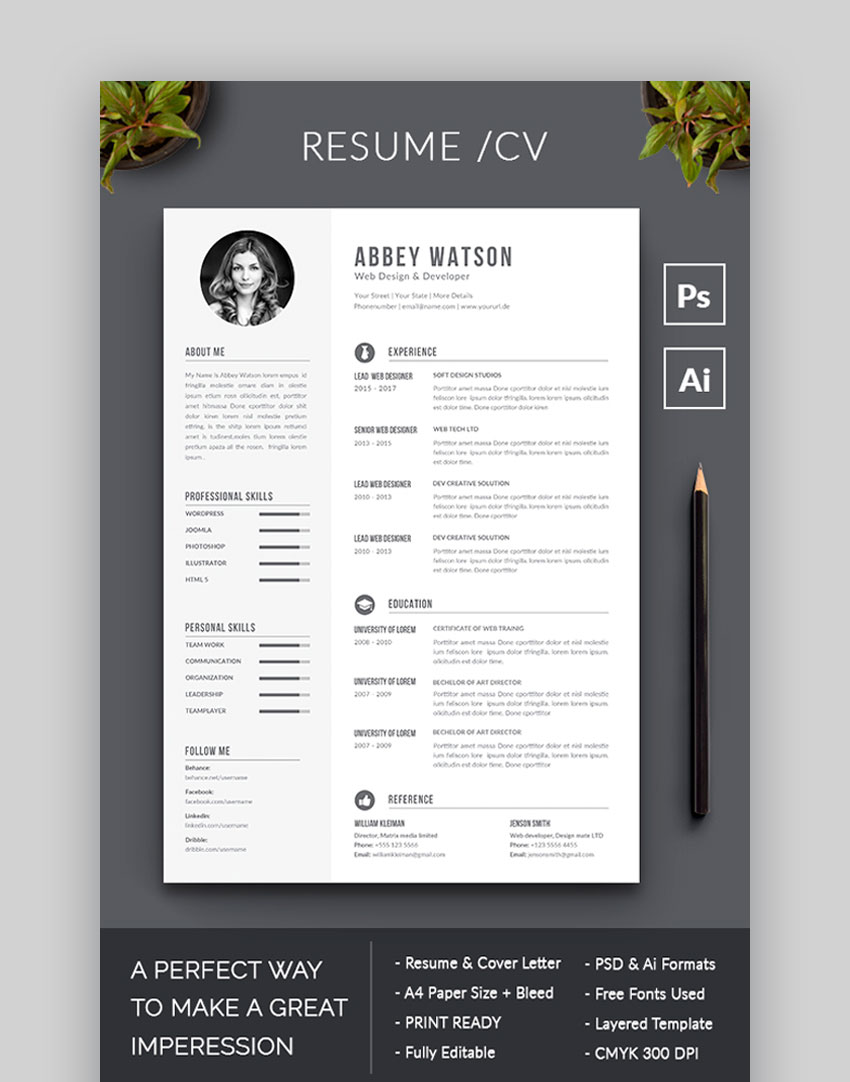 Resume - Simple and Awesome Resume Example