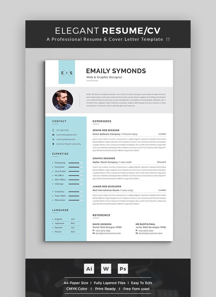 Elegant Resume - Professional Resume Template