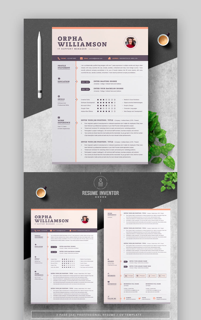 Resume - Awesome Resume Template