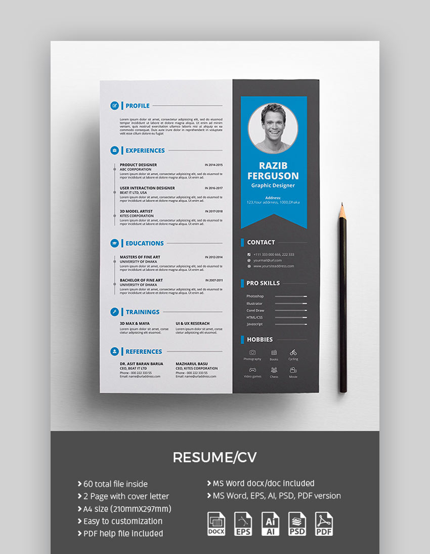 Resume Colorful Resume Template