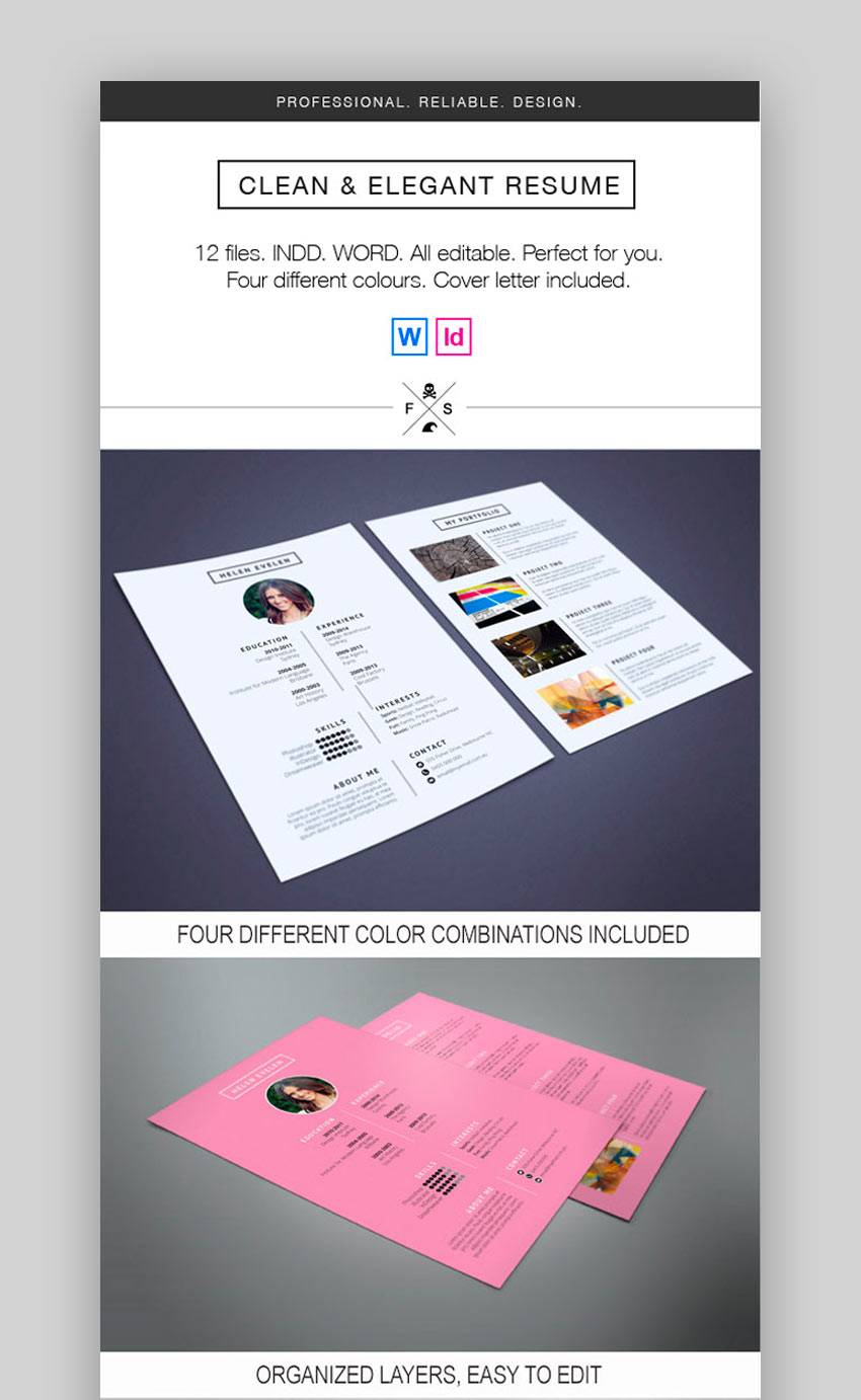 Clean and Elegant Resume Template