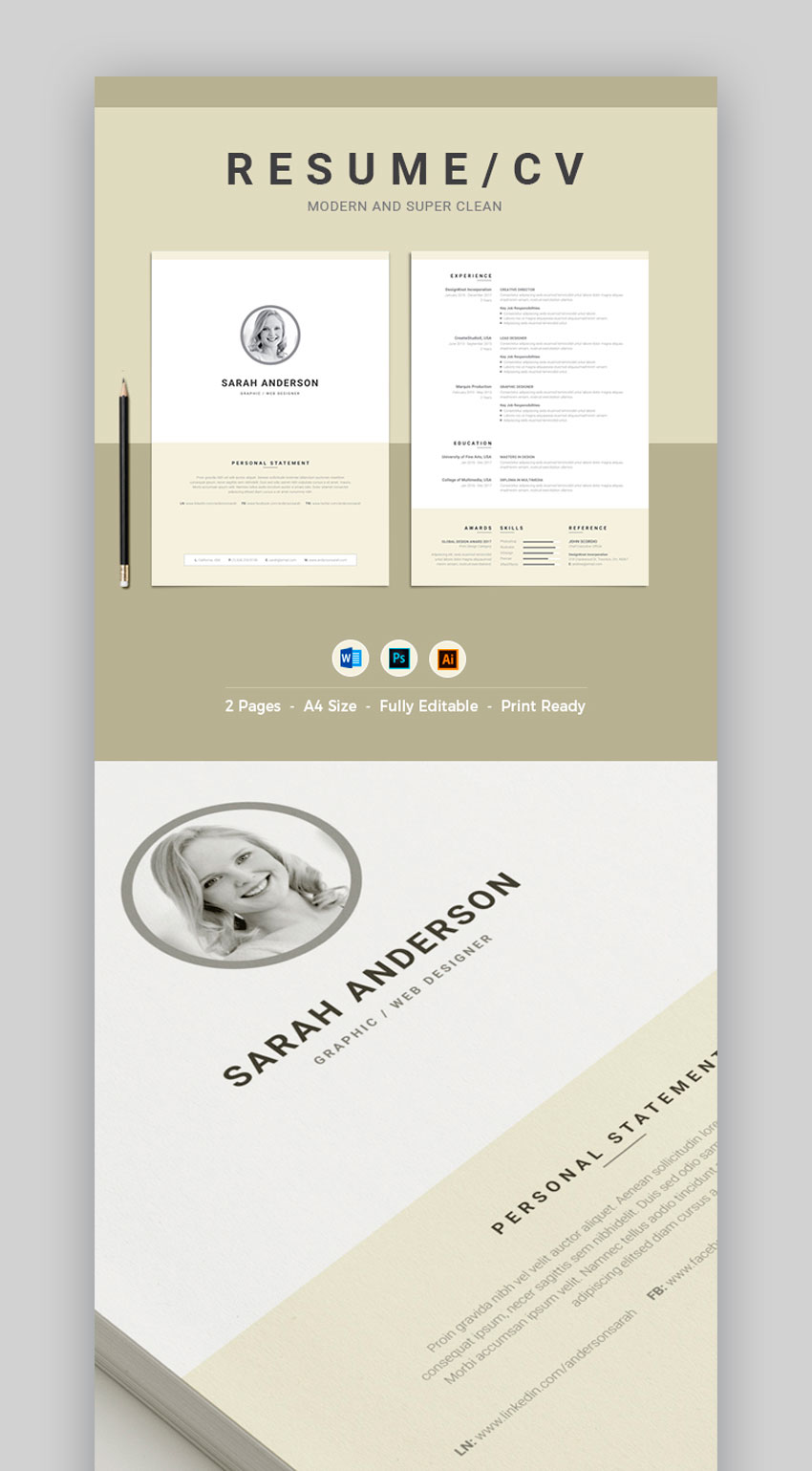 Modern and Super Clean Resume