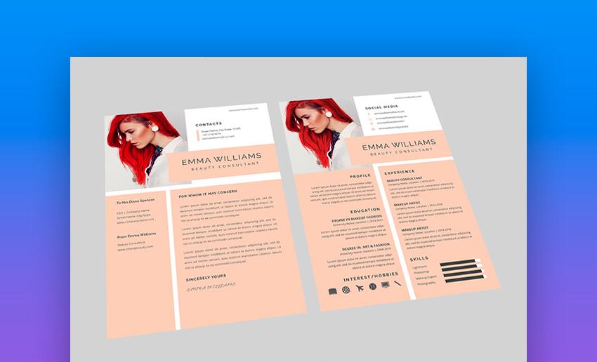 Beautiful nice resume template