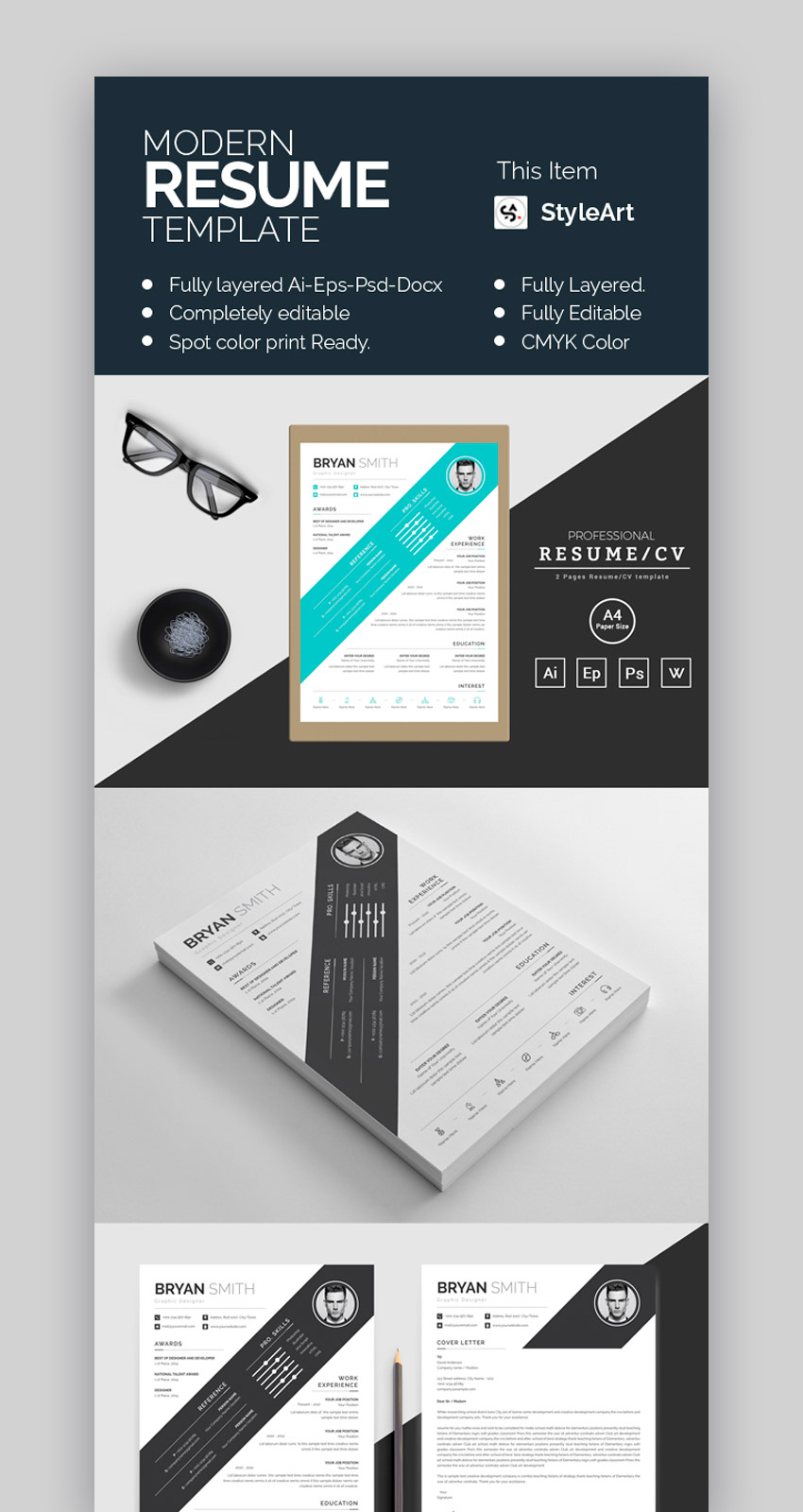 modern resume template top resume designs