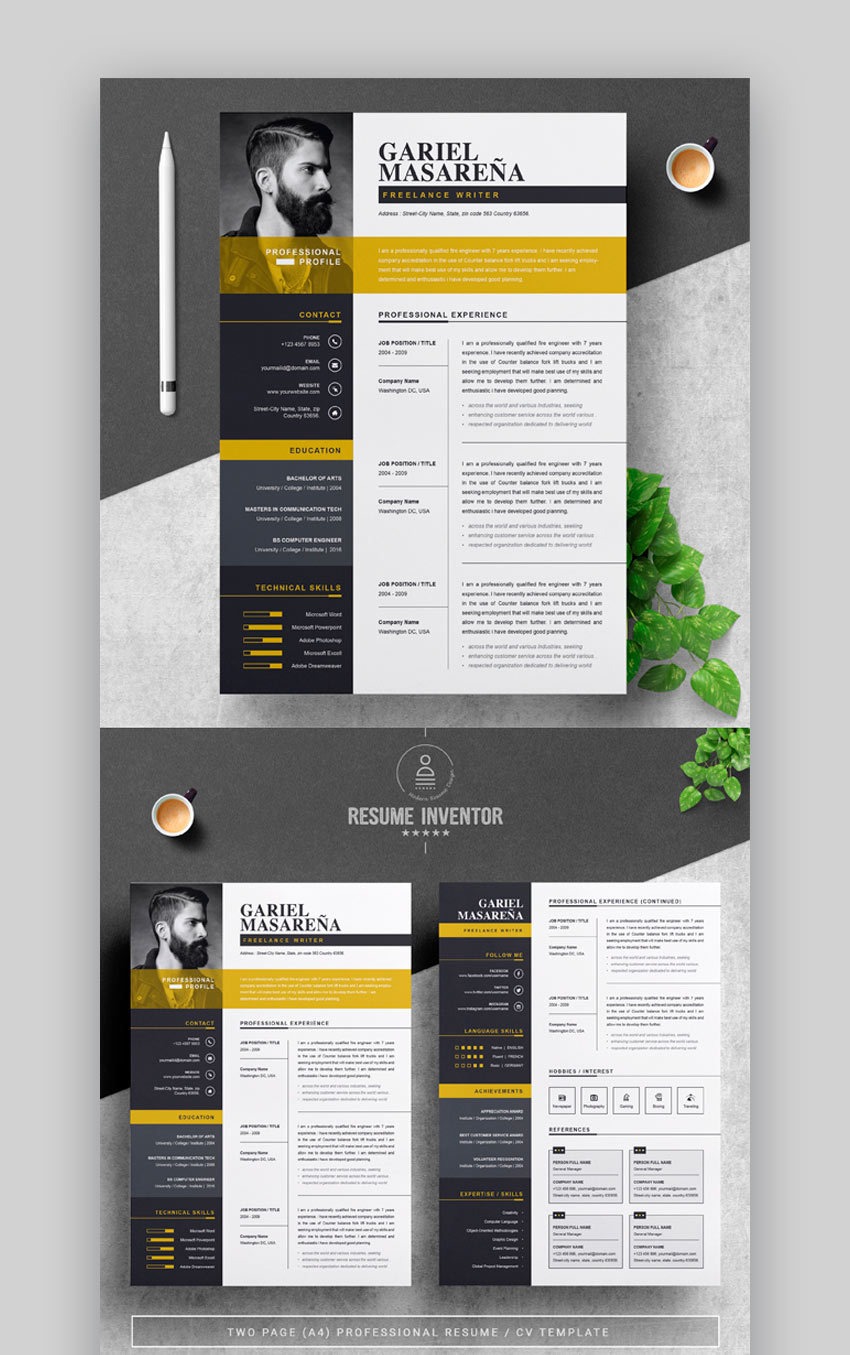 Resume Template for Adobe Illustrator