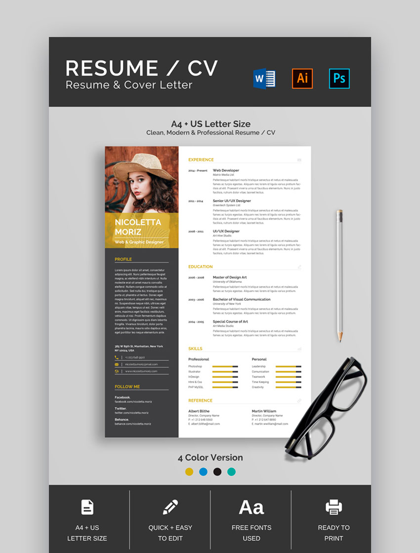 Easy to Edit Resume