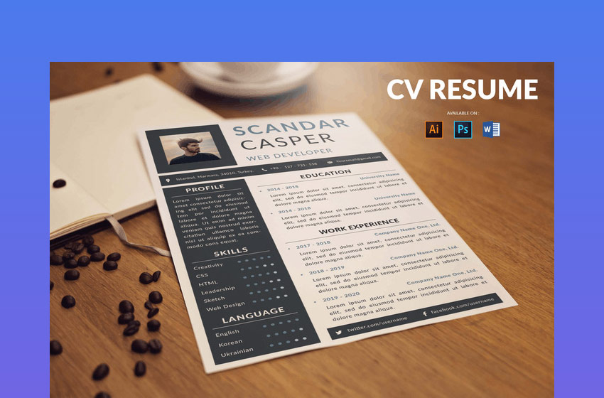 CV Resume for teachers