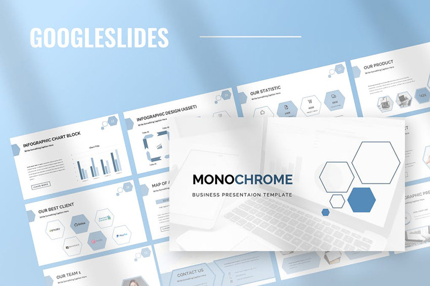 Monochrome - Google Slides Presentation