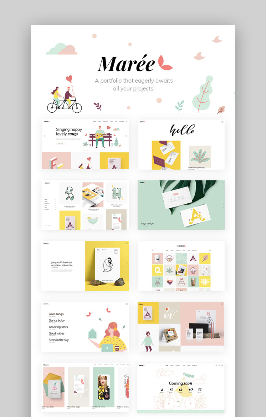 Mare - Illustration and Design Portfolio Theme