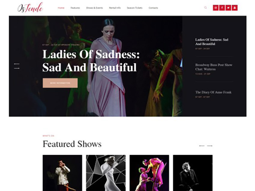 OsTende WordPress Portfolio Theme