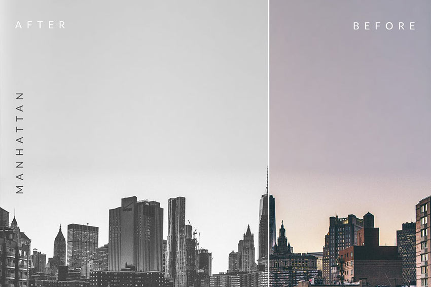 Carbonium - Black and White Photoshop Actions