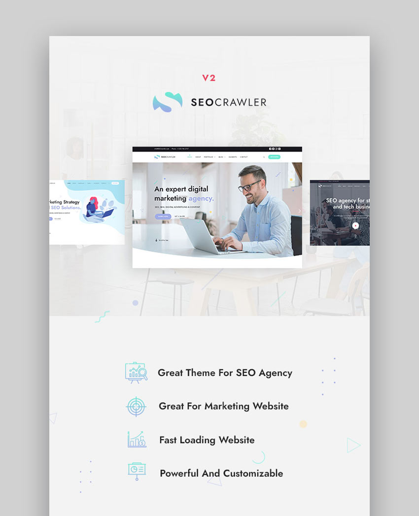 SEOCrawler - SEO  Marketing Agency WordPress