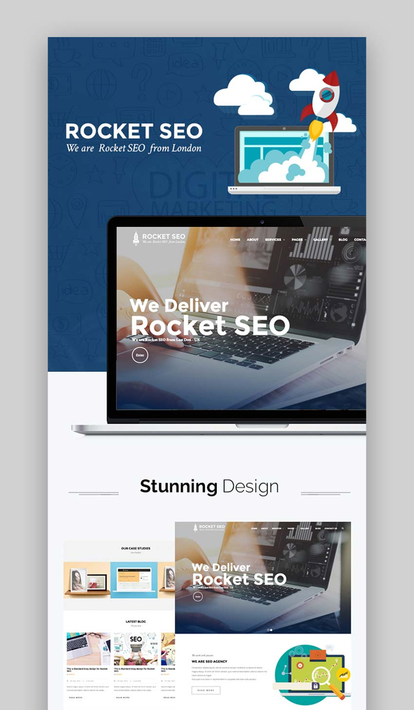 Rocket SEO - Online Marketing WordPress SEO Theme