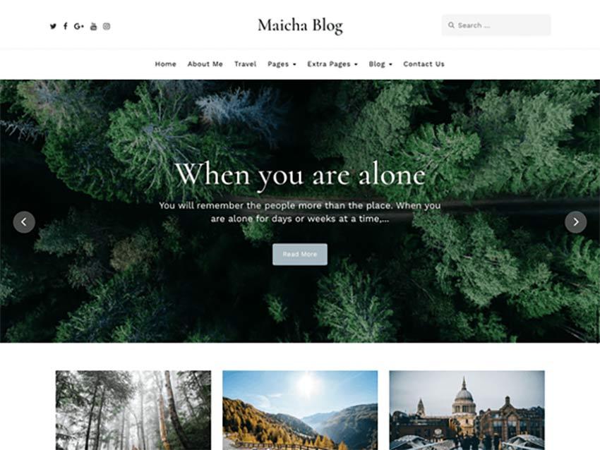 Maicha Blog Free WordPress Theme