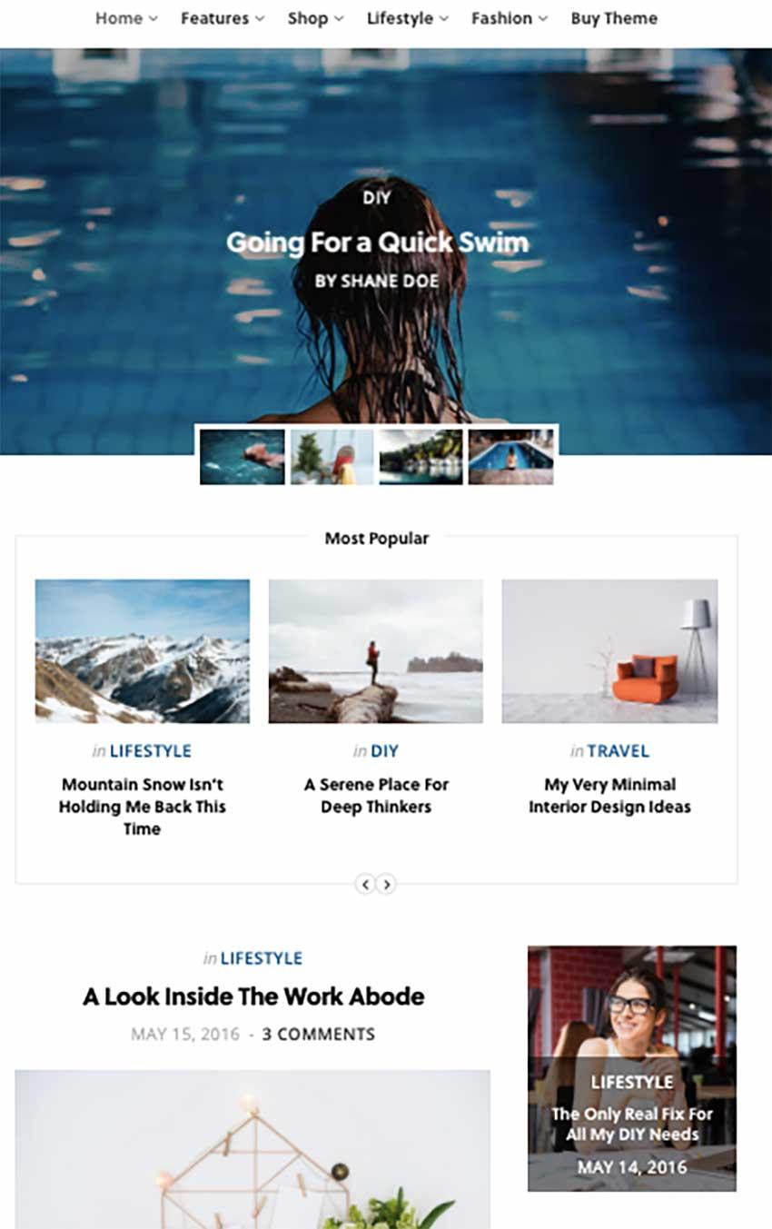 CheerUp - Modern Personal WordPress Blog Theme