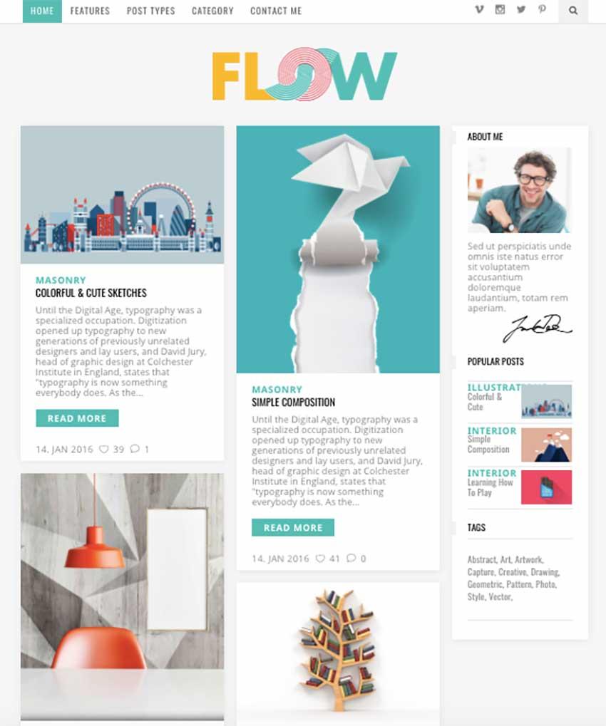 Flow - Creative Blog