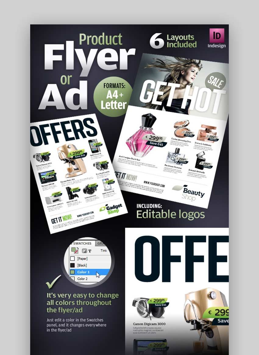 Product Leaflet Design Template
