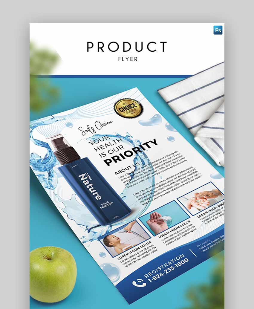 Product Marketing Flyer Template