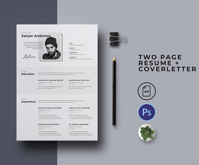 20 Best Free Modern Resume Templates Download Clean Cv Design