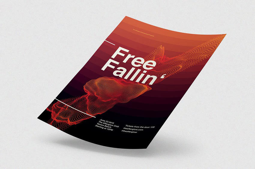 Free Falling Flyer Poster