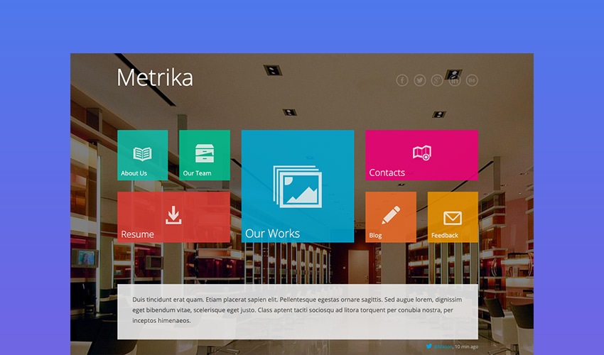 Metrika - One Page Responsive Website Template