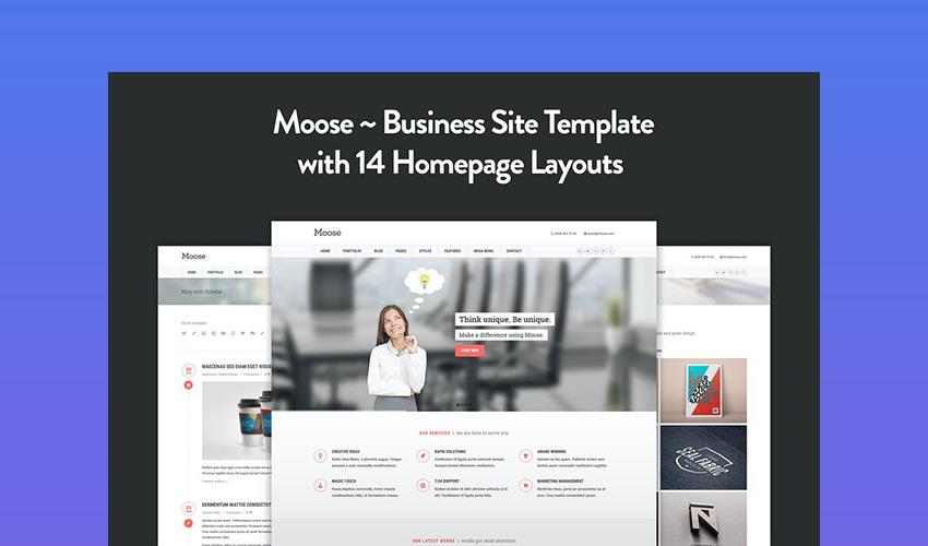 Moose - Corporate HTML5 Template