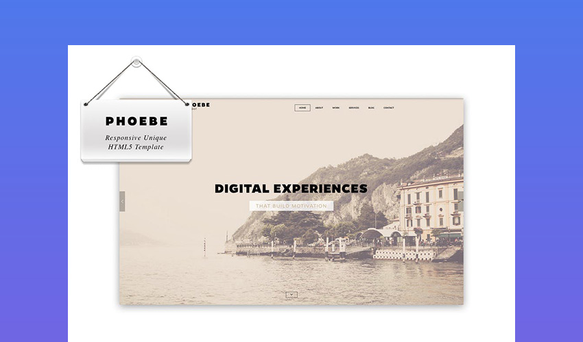 Phoebe - Creative HTML5 Template With Responsive Design