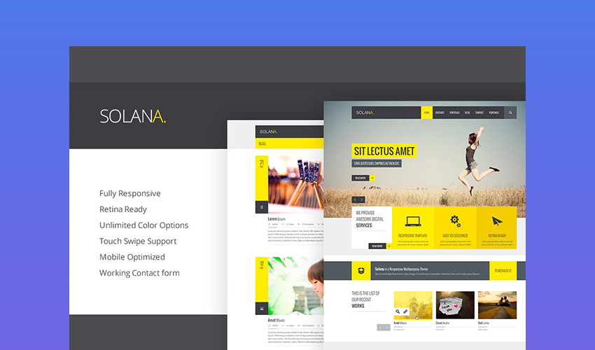 Solana - Bold HTML5 Responsive Template