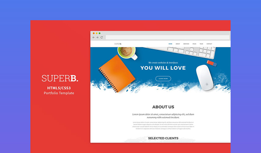 Superb - Easy to Customize Responsive Template