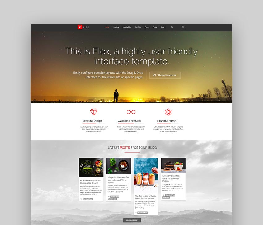 FLEX - Multi-Purpose Joomla Template
