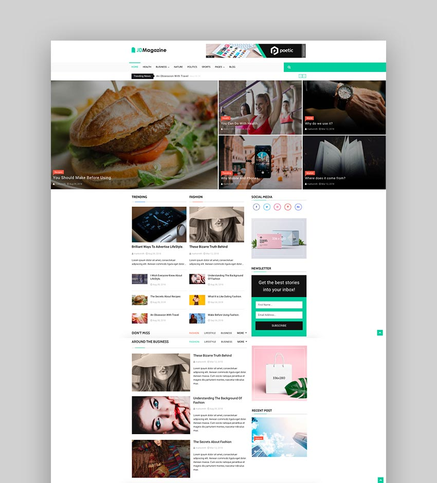 JD Magazine - Best Blog Joomla 39 Template