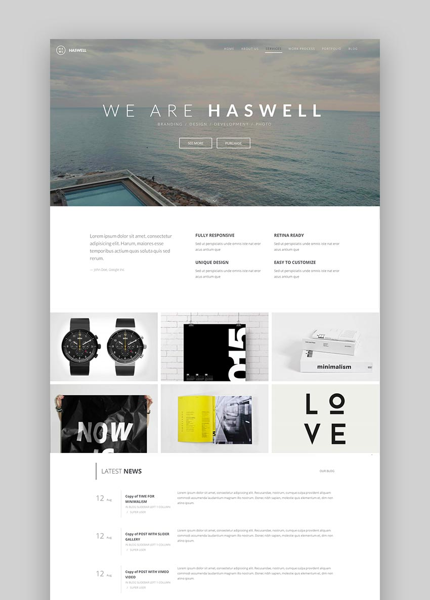 Haswell - Multipurpose One  Multi Page Joomla Template