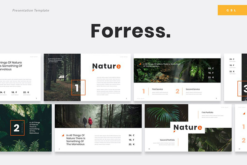 Foress - Nature Google Slides Template