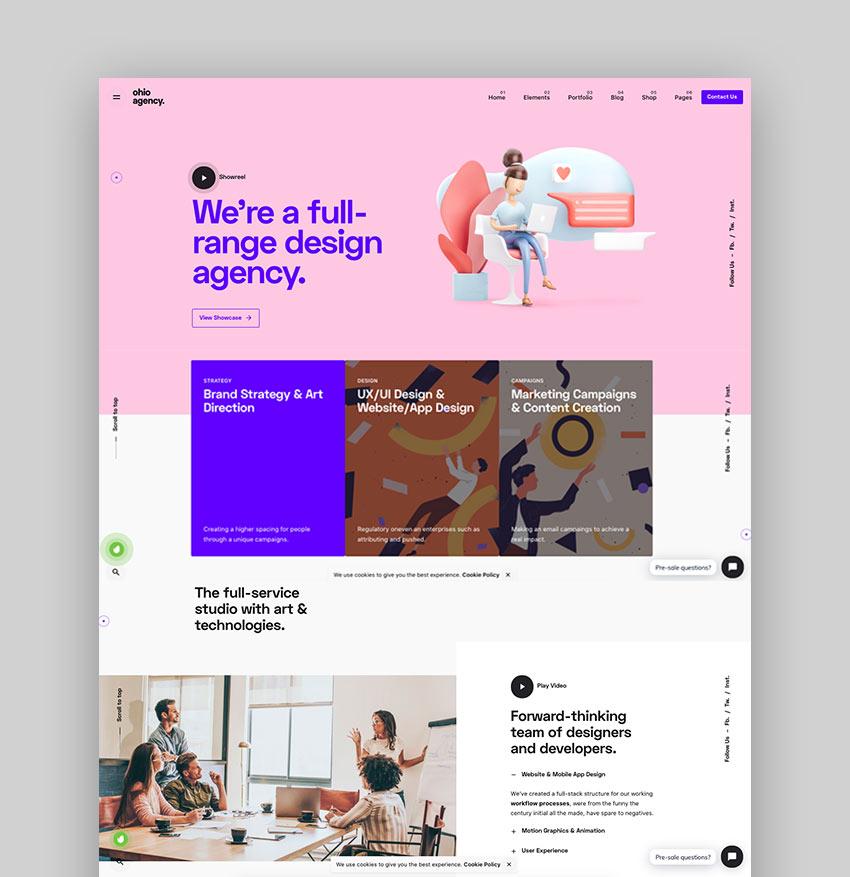 Ohio - Creative Agency WordPress Theme