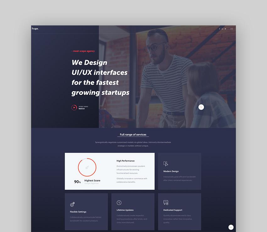 Scape - Creative Agency WordPress Theme