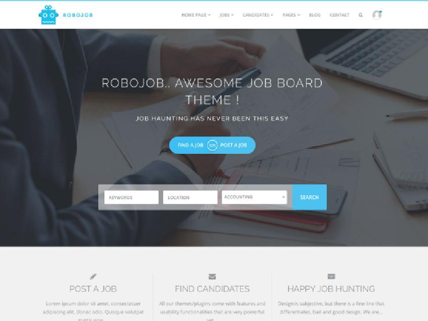 Robojob Lite Free WordPress Job Site